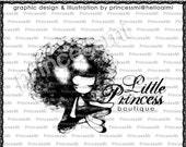Custom Premade Logo Design - Girl illustration drawing art photography logo business logo boutique by princess mi logo 01278