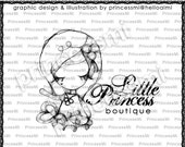 Custom Premade Logo Design - Girl illustration drawing art photography logo business logo boutique by princess mi logo 01318