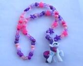 Rarity My Little Pony Kandi Necklace