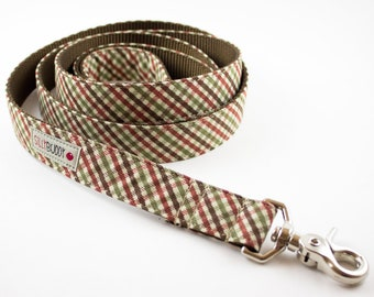 Autumn Mini Plaid Dog Leash