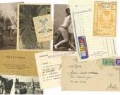 10 Mixed italian ephemera paper pack - Memorabilia from Italy