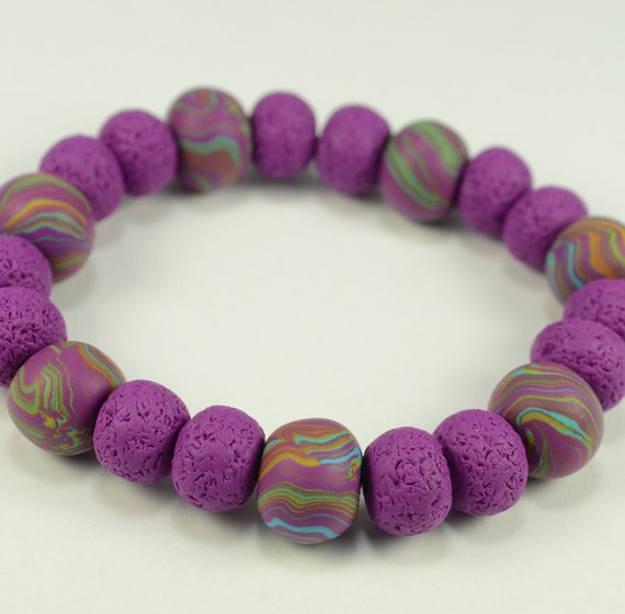 Psychedelic Purple Hippie Bracelet