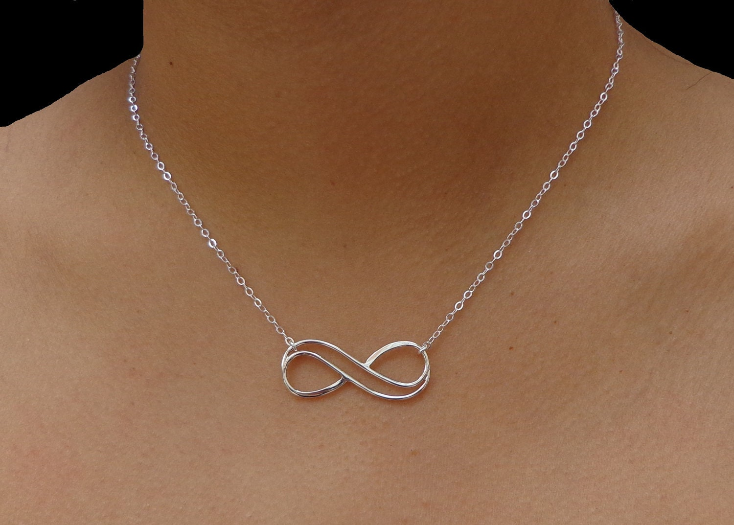 Sterling Silver Infinity Ring Etsy