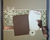 Snowflake -- Premade 12 x 12 Scrapbook Page -- Christmas -- Winter page