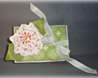 Poinsettia -- Altered Gift Box -- Christmas -- Holiday -- Gift Box