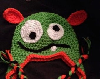 Silly Monster Crochet Winter Hat YOU CHOOSE COLORS