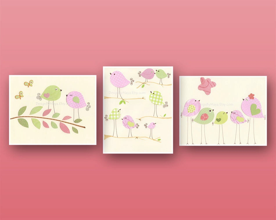Etsy Girl Nursery Wall Decor : Baby girl nursery wall art print room decor love