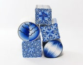 Clearance Sale - 5 Polymer Clay Kleidoscope and petal canes