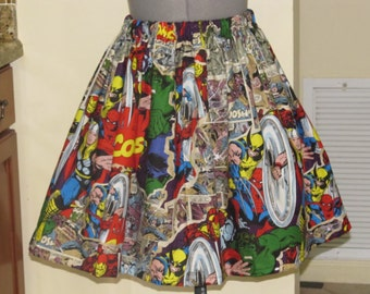 Womens Marvel Characters Skirt - Sizes X-Small - Large - Ready to Ship