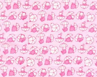 Sale - Jone Hallmark Fabric Umbrellas in Pink - 1 Yard