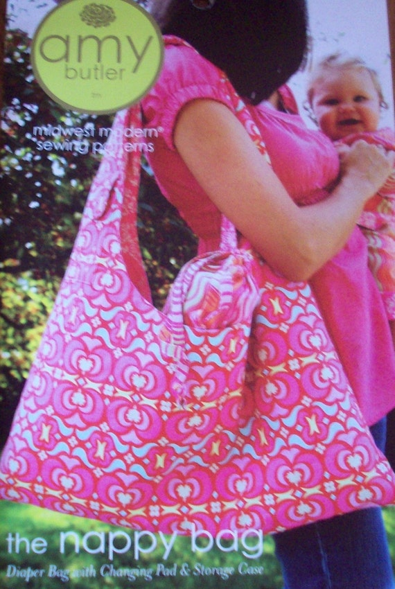 Amy Butler Sewing Pattern The Nappy Bag with Free US Shipping