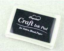 Stamp Ink Pad Oil Based waterproof for wood, fabric and paper - BLACK