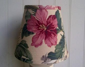 Lampshade tropical barkcloth clip lampshade retro style