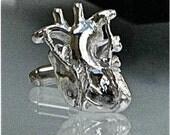 Coronary Artery Bypass Cufflinks in Solid Sterling Silver