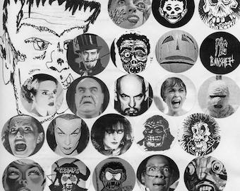 spooky halloween horror buttons pins