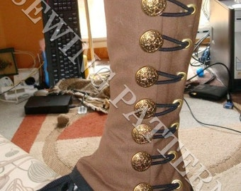 Steampunk Military Spats Sewing Pattern