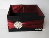 Wedding Program Box, Amenities Box, Favor Holder, Bubble Holder  - Custom Made to your colors