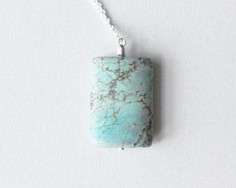 S A L E // Turquoise Fractals Necklace