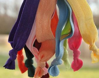 Thick Hair Elastic Hair Ties Set of 10. Hair Bands in large size for thick hair. Elastic hairbands. Hair tie set.