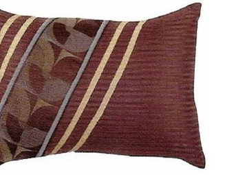 """Cyber Monday Sale Brown Lumbar Pillow Cover 12"""" x 18""""  Designer Cushion Cover- 5 matching Pillow designs and sizes 2098"""