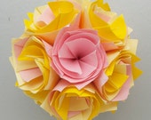 Baby Yellow and Pink Flower Ball