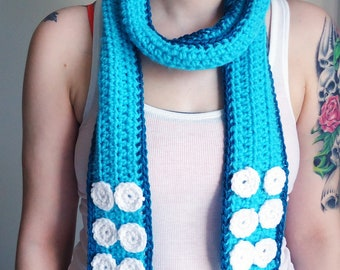 Crochet Tentacle Scarf - Unisex Crochet Scarf - Geeky Winter Accessories - Octopus Gifts