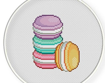 Instant Download,Free shipping,Cross stitch pattern, PDF,macaroons ,zxxc0292