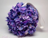 Purple Hydrangea Flower Girl Pomander