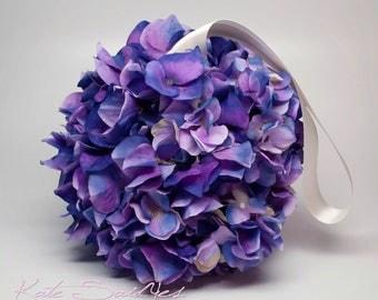 Purple Hydrangea Flower Girl Pomander
