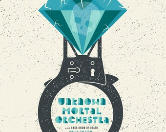Unknown Mortal Orchestra, screen print Gig Poster