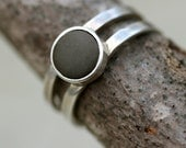 Reserved for Elisabeth - Costa Rican Stone Double-Band Ring