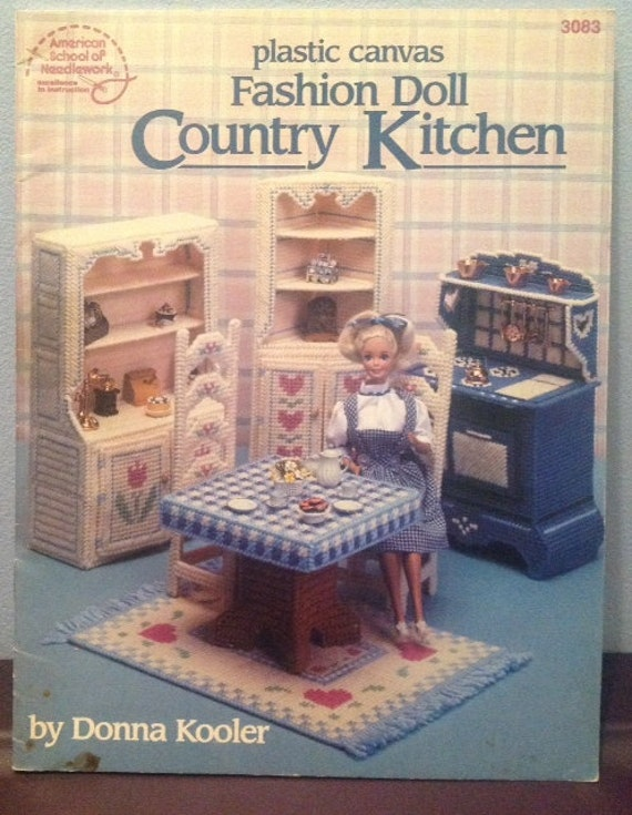 Plastic Canvas Fashion Doll Country Kitchen Pattern