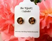 Log lady Twin Peaks earrings