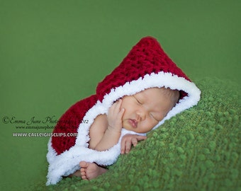 LIttle Mrs. Christmas Capelet- Customizable  - 0-3 mo size -