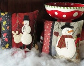 Two Silly Snowmen, A Pattern to Make Two Small Wool Pillows