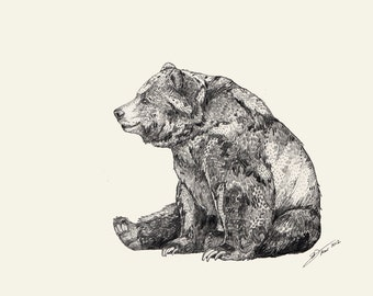 Bear  // Signed A4 print