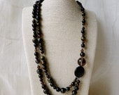Blue Tigereye & Gold Sheen Obsidian Dual Strand Necklace