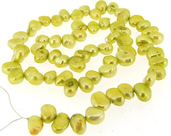 Flat Freshwater Cultured Pearl Beads Gemstone 5mmx 9mm 67Beads