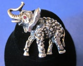 Elephant In The Room - Vintage Silver Tone Elephant Brooch