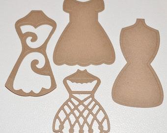 Dress Die Cuts Dressform Dress Form Spellbinders Scrapbooking Cardmaking Supplies Decorative Dress Forms