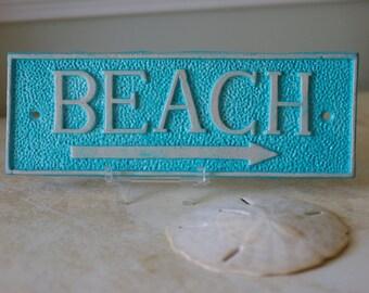 Beach House Decor, Coastal Decor,Mermaid Lovers, Beach Sign, Cast Iron Wall Decor - PICK YOUR COLORS