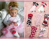 Baby Girl Legs.  Any Pair of Leg Warmer.  Pink Roses, Argyle, Polka Dot, Football Stripes, Leopard, and Stripes