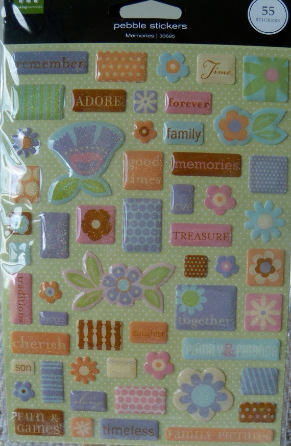 Memories Family, Friends, and More 3D Die Cut Glitter Stickers
