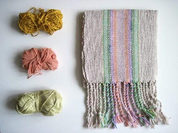 The 'Desert Wildflowers' Scarf Handwoven