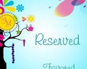 Reserved for Shawnetta