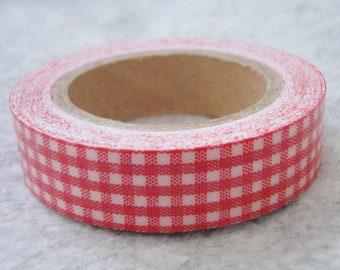 Self Adhesive Assorted Checker Fabric Cloth Ribbon - 13ft