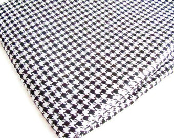 Black and White Houndstooth Fabric by Alice Kennedy for Timeless Treasures