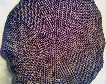 The Elaine Beret - Luxurious Hand Crochet Silk Beanie