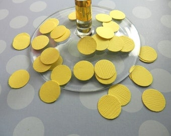 100 Pollen Yellow Dots Confetti, Weddings, Parties, Table Decoration, Circles, Baby Showers, Easter, Size 1/2 inch