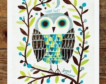 11x14 Owl Art Print